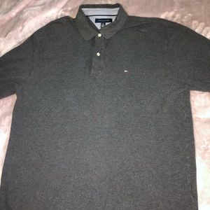 Gray Tommy Hilfiger Polo Long Sleeve